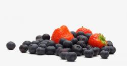 Blueberries And Strawberries, Three Strawberries, Fruit, Fresh PNG ...
