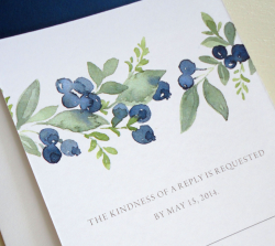 Watercolor blueberries | Graphic : Greeting Card | Pinterest ...