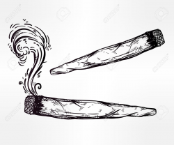 28+ Collection of Drawing Of A Weed Joint | High quality, free ...