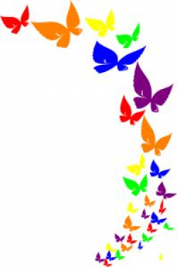 Free Butterfly Borders Clipart
