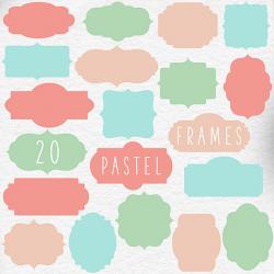 BUY5FOR8 Digital Borders Clipart Border Clip Art Pastel Frames ...