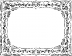 Free Clip Art - Vintage Fancy Border   Oh So Nifty Vintage Graphics