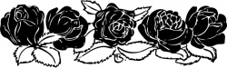 Rose Border clip art Free vector in Open office drawing svg ( .svg ...