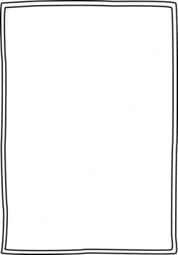 Cool Of Simple Border Clipart Black And White - Letter Master