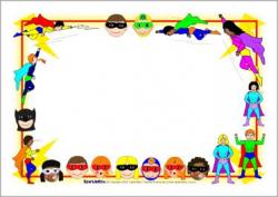 Superhero A4 Page Borders Sb2196 Sparklebox | Super Hero Classroom ...