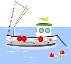 Clipart - Old Fashioned Fishing Boat