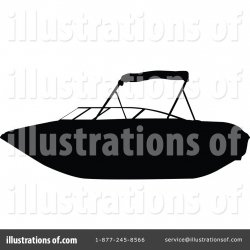 Boat Silhouette Clipart #45256 - Illustration by JR
