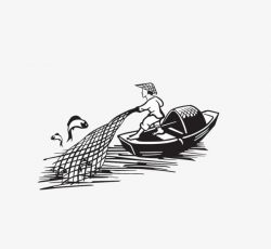 Stick Figure Fishing, Boat, Fishing Nets, Fisherman PNG Image and ...
