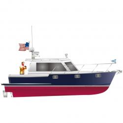 Inboard cabin cruiser / hard-top / downeast / 2-cabin - IP310 ...