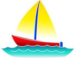 cartoon boats images | Free Sailboat Clip Art Image - Cute Little ...