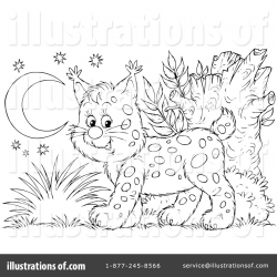 Bobcat Clipart #1057191 - Illustration by Alex Bannykh