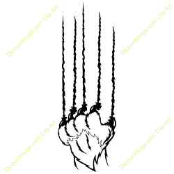 Claws clipart bobcat - Pencil and in color claws clipart bobcat