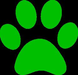 Green Paw Print Bobcat Clip Art at Clker.com - vector clip art ...