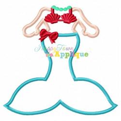 Mermaid Body Appliqué Design