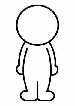 Person Outline Outline Of A Person Printable Human Body Outline ...