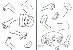 Preschool Body Parts Clipart