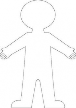 human body outline for kids | fun preschool ideas/ my Classroom ...