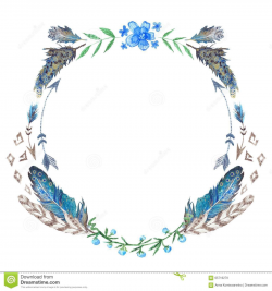 Watercolor Boho Wreath - Download From Over 45 Million High Quality ...