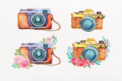 camera watercolor. Girl photographer, girl, fashion illystration ...
