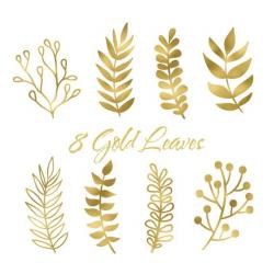 Gold Leaf Clip Art Leaf Clip art Boho Clip by ZoeWithLoveStudio ...