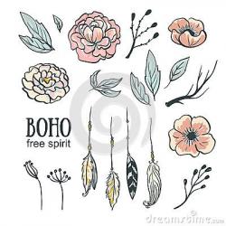 Boho Stock Illustrations – 6,898 Boho Stock Illustrations, Vectors ...