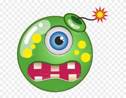 Green Cartoon Bomb Clipart - Clipart Png Download (#3005111 ...