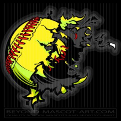 Clipart Softball Dynamite Cartoon Vector Baseball Image