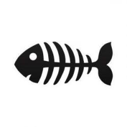 Fish Bone Clipart cartoon fish skeleton decal sticker funny cartoon ...