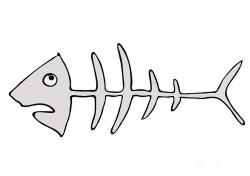 Fish Bones Graffiti Clipart