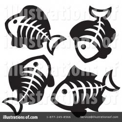 Fish Bones Clipart #214537 - Illustration by visekart