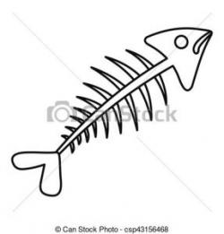 Fish Bone Clipart fish bone icon outline style fish bone icon ...