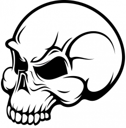 Simple skull clipart - WikiClipArt