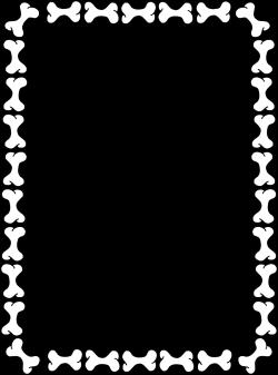 HD Illustration Of Blank Border Dog Bones Pv Pictures - Vector Art ...