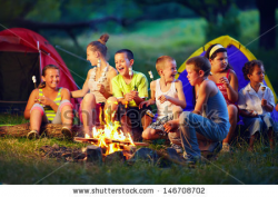 Campfire clipart kid campfire - Pencil and in color campfire clipart ...