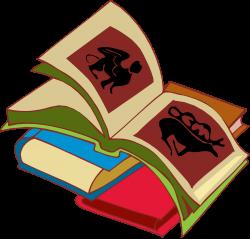 Books stack clipart - Clipartix