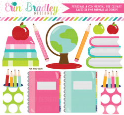School Supplies Clipart – Erin Bradley/Ink Obsession Designs