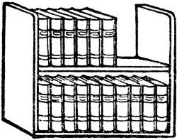 Bookcase Clipart Book Rack Pencil And In Color Bookcase, Clip Art ...