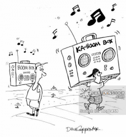 Boomboxes Cartoons and Comics - funny pictures from CartoonStock