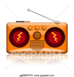 Clipart - Radio. Stock Illustration gg63807610 - GoGraph