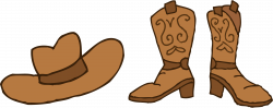 Cowboy Hat and Boots Clipart - Free Clip Art