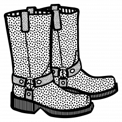Clipart - boots - lineart