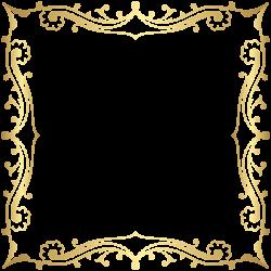 Decorative Border Frame Transparent Clip Art Image | borders ...