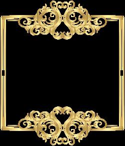 Gold Border Frame PNG Clip Art | Ramar. | Pinterest | Clip art and ...