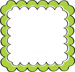 school theme border clipart | Green Scalloped Frame - Free Clip Art ...