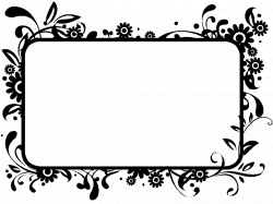 Flowers Clip Art Black And White Border Home Redesign | Clip Arts ...