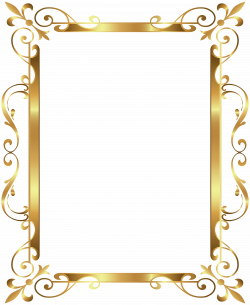 Gold Border Frame Deco Transparent Clip Art Image | Gallery ...