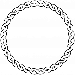 rope border circle black white line art coloring ... - ClipArt Best ...