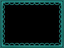 Free Frames and borders png | Aqua artistic loop Rectangular ...