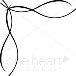Clipart Ribbon Border | Wedding Flourish
