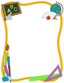 A great border for teachers featuring generic school-related ...